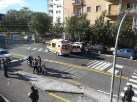 Incidente stradale a Bolzano, ambulanza della Croce Bianca